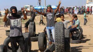 На границе с Газой убито двое палестинцев, ранено 270