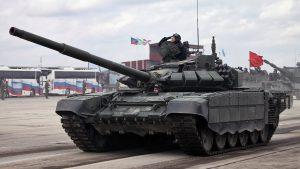 Российские танки Т-72Б3 будут оснащать КАЗ