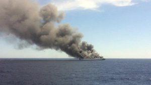 На Балтике из-за взрыва загорелся пассажирский паром