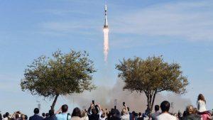 Во время запуска ракеты  «Союз» произошла авария