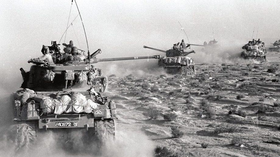 М51 на марше в Шестидневной Войне