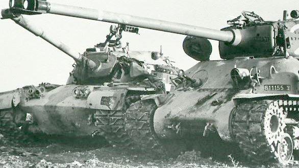 М51 и подбитый иорданский М48