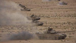 Танки Т-90СА на учениях