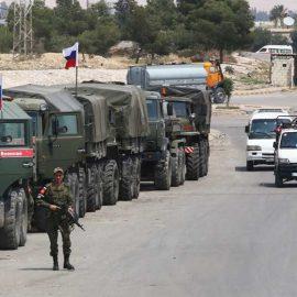 Российская военная полиция обеспечила безопасность гуманитарного конвоя ООН в Сирии
