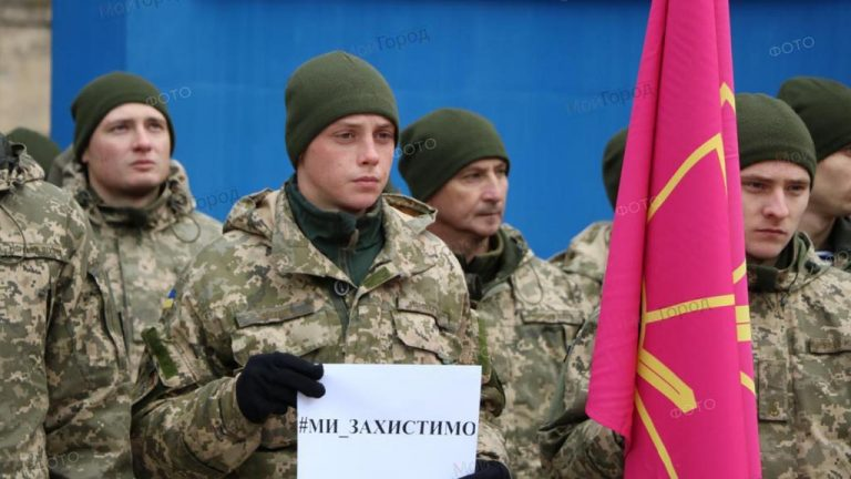 Акция в поддержку украинских моряков в Николаеве