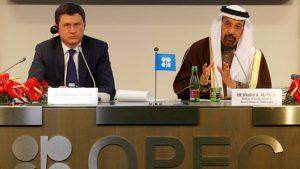 Глава Минэнерго Александр Новак и Министр нефти Саудовской Аравии Халид аль-Фалих