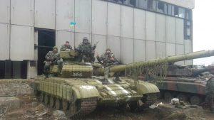 Танк ВСУ в зоне АТО