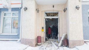 В Новосибирске взорвали банк
