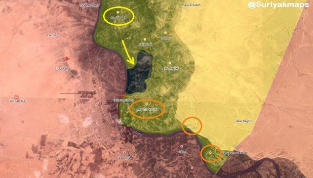 """Так называемые """"Сирийские демократические силы"""" окружили последний оплот чёрных (ИГИЛ)"""