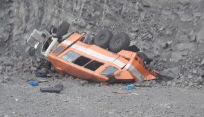 автобус с шахтерами на Кузбассе упал с обрыва