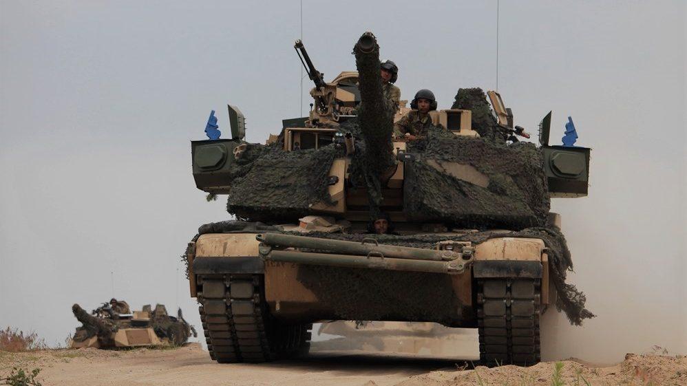 « Абрамс»M1A2 SEP V2 1 бронетанковой бригады армии США на учениях в Польше, лето 2018 года.