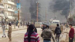 Видео: Близ штаба ССА в сирийском Африне взорвалась бомба