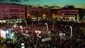 В Черногории прошёл массовый антиправительственный марш