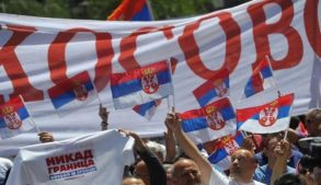 Косово это Сербия, митинг в Сербии