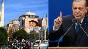 Эрдоган предложил вновь сделать мечеть из собора Святой Софии
