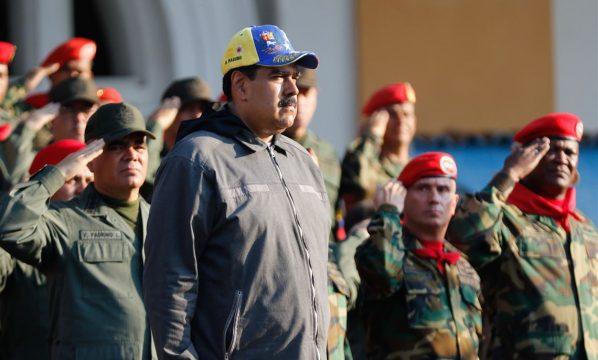 президент Николас Мадуро и военные Венесуэлы
