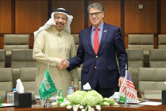Саудовский представитель Фалих и министр энергетики Рик Перри