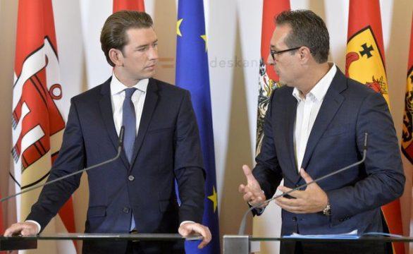 канцлер и вице-канцлер Австрии Себастьян Курч и Хайнц-Кристиан Штрахе