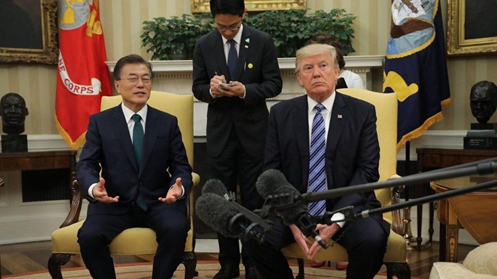 Мун Чже Ин и Дональд Трамп