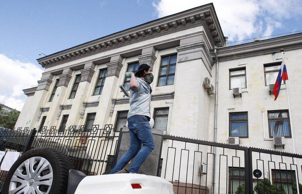 Рядом с посольством РФ в Киеве произошёл взрыв