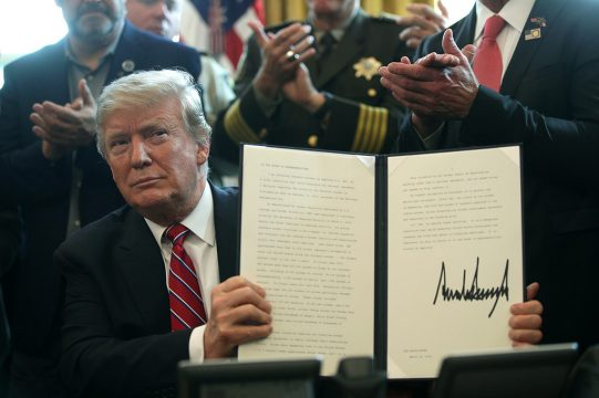 Дональд Трамп применил вето