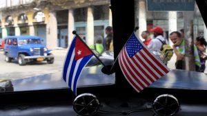 Куба и США флаги, американский бизнес на Кубе