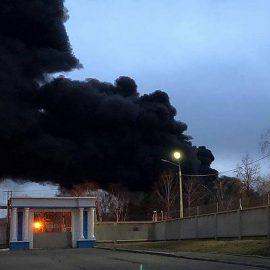В Красноярске горит оборонный завод «Красмаш»