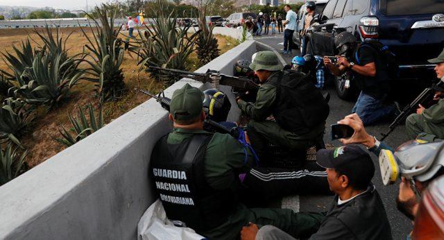 вооруженный мятеж и провокация оппозиции Венесуэлы 30 апреля