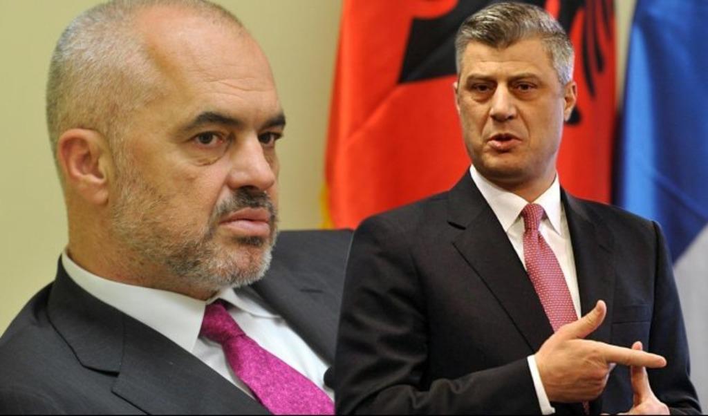 Главы Албании и Косово Эди Рама и Хашим Тачи