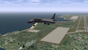 самолет ВВС США и военная база Диего-Гарсия