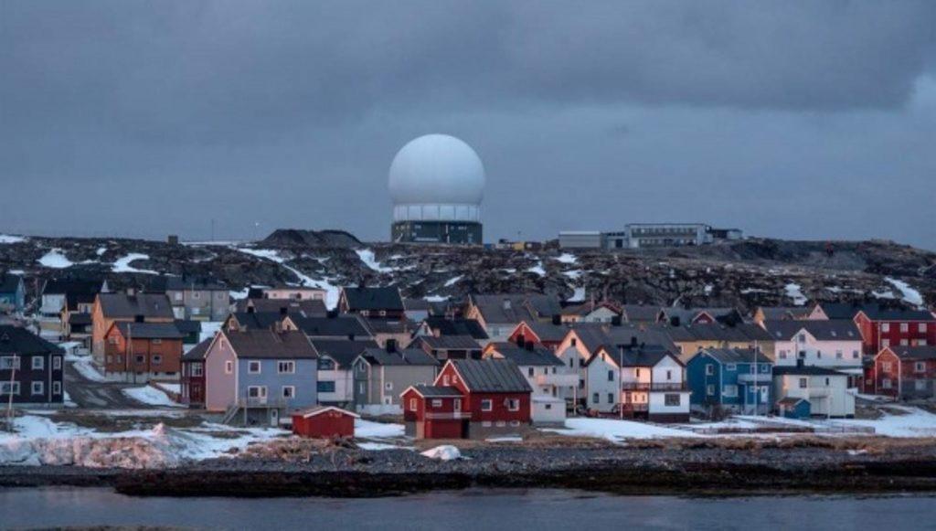 американский радар в норвежском городе Вардё