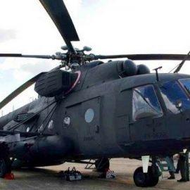 В Мексике разбился военный вертолет