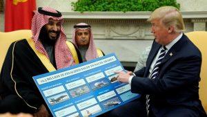 Дональд Трамп и саудовский принц Бен-Салман обсуждают продажу оружия
