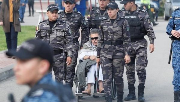 арест бывшего лидера партизан Колумбии FARC Хесуса Сантрича
