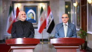 Главы МИД Ирана и Ирака Джавад Зариф и Аль-Хаким