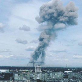 Несколько взрывов произошли в цехе по производству тротила в городе Дзержинск