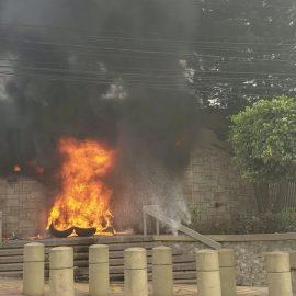 Протестующие в Гондурасе подожгли посольство США