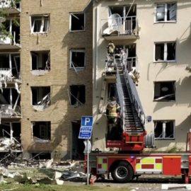 Мощный взрыв произошел в центре города в Швеции