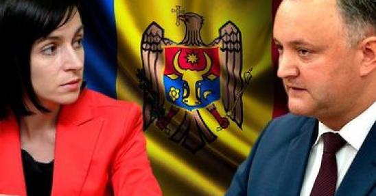 премьер Молдовы Майа Санду и президент Игорь Додон