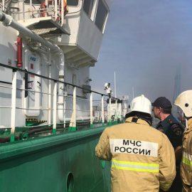 На танкере в Махачкале произошёл взрыв