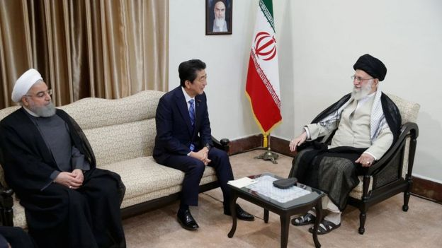 Синдзо Абэ Али Хаменеи и Хасан Роухани