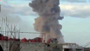 В Дамаске взорвался склад с боеприпасами