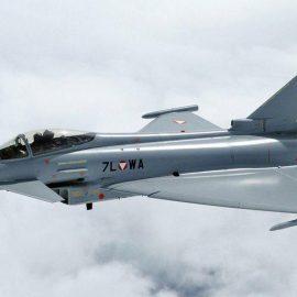 В небе на Германией столкнулись два истребителя