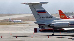 российский военный ИЛ-62 прибыл в Венесуэлу