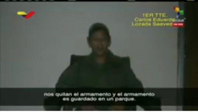 видеозапись-признание лейтенанта-заговорщика Венесуэлы