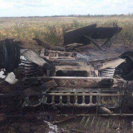 ВСУ выдают подорвавшийся на собственной мине «Хаммер» за результат обстрела со стороны ополчения
