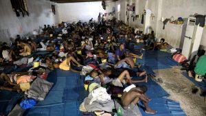 один из Центров содержания мигрантов в Ливии