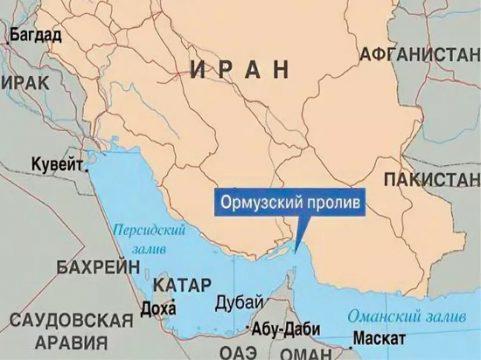 Ормузский пролив на карте