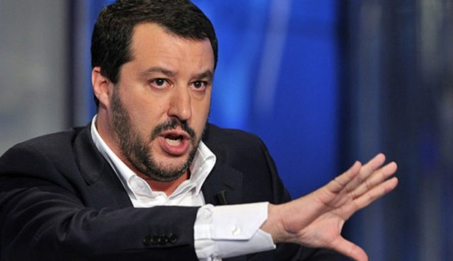 глава МВД вице-премьер Италии Матео Сальвини