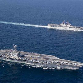 Корабль ВМФ США сбил иранский беспилотник в Ормузском проливе